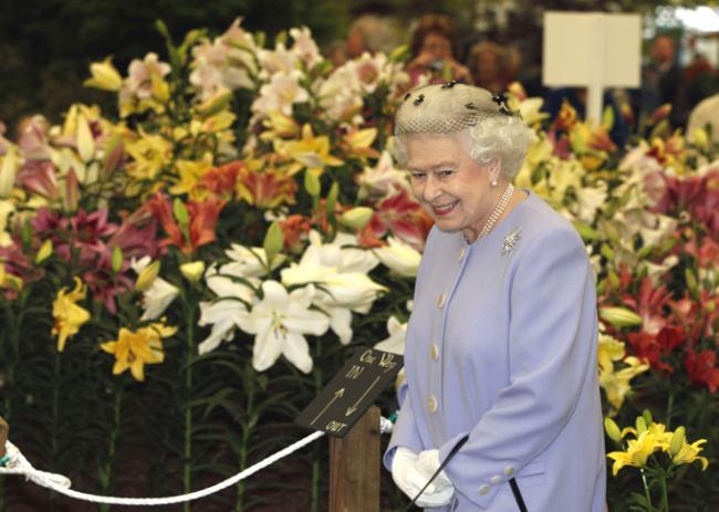 Самая большая в мире выставка цветов в честь Елизаветы II